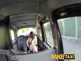Fake Taxi Office romance revenge in cab