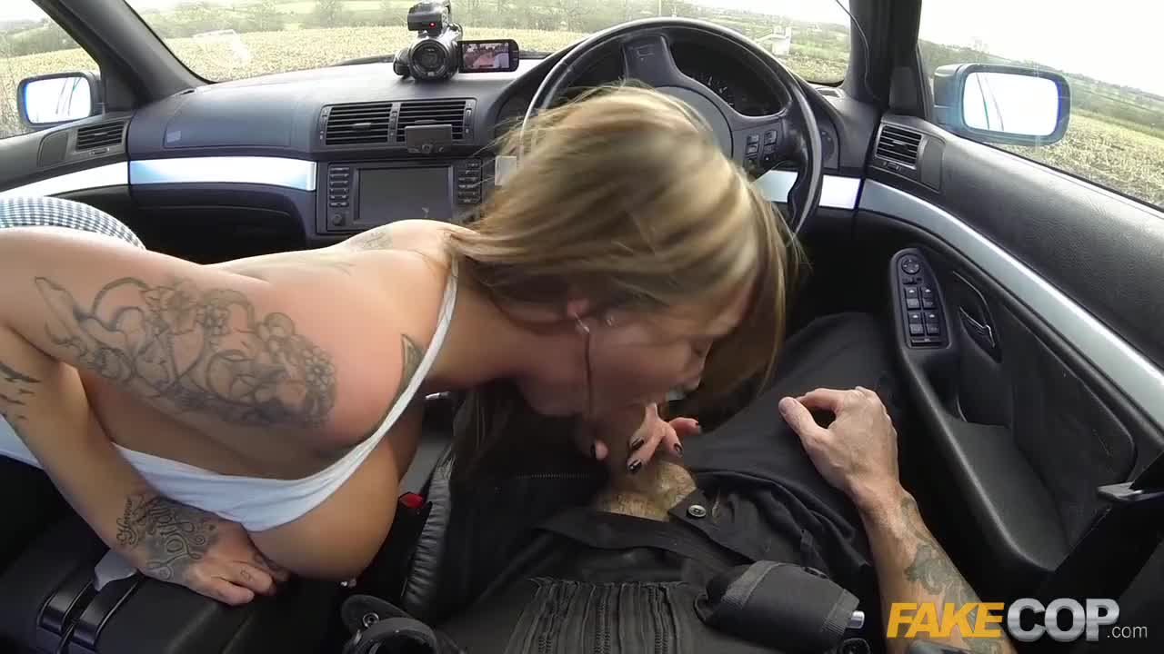Fake cop uniformed policeman makes her dream cum true