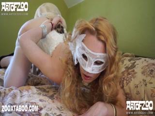 Mask Girl Doggy Style With Dog