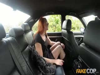Fake Cop Redhead hooker earns herself a star