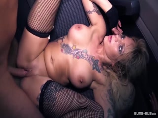 BumsBus - Dirty whore Mia De Berg fucking furiously in the back of a van