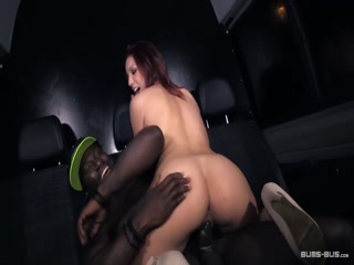 BumsBus - Kookie Ryan is opening Natalie Hot's pussy in interracial action