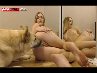 Blonde Babe College Sucking Anf Fucked Dog