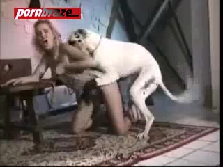 Slut Blonde Fucked In Doggy Style With Dog