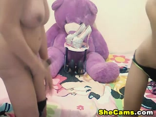 Shemale Couple Do Hot Blowjobs and Anal